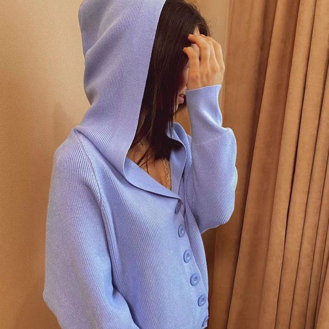 GIGOGOU Hooded Women Cardigan Sweater 2020 Short Preppy Style Campus Student Cardigans Knitted Soft Female Jumpers Top Outfits 6