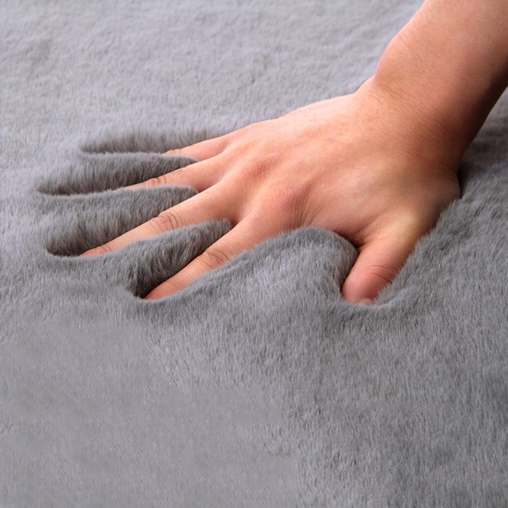 Tapis moelleux SUPER doux en fausse fourrure   Tapis de grande surface, tapis moderne en fourrure Shaggy de lapin solide pour décoration de la maison, tapis pour salon et chambre à coucher D30