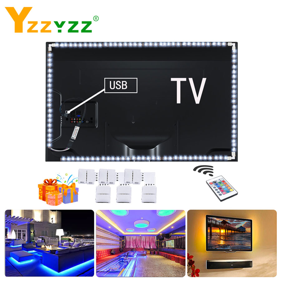 5V 2835 SMD Led Strips 1M 2M 3M 4M 5M USB RGB LED TV Diode Ribbon LED Strip Light For TV Backlight Home Deco With Remote Control
