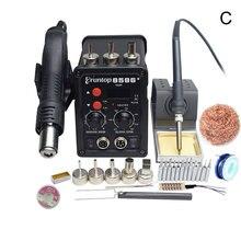 1 комплект с цифровым дисплеем Eruntop 8586+ Электрические паяльники+ фена SMD паяльная станция модернизированная с 8586