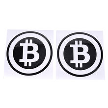 Grote Bitcoin Auto Sticker Cryptocurrency Blockchain Vrijheid Sticker Vinyl Auto Raamstickers 6.3in * 6.3in(China)