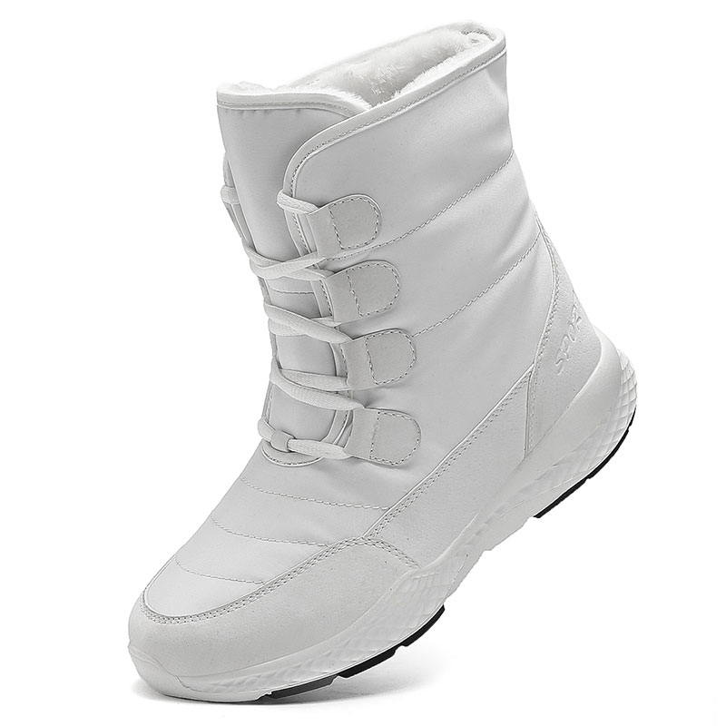 TUINANLE Women Boots Winter White Snow Boot Short Style Water resistance Upper Non slip Quality Plush Black Botas Mujer Invierno