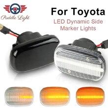 Светодиодный динамический Боковой габаритный фонарь поворота светильник для Toyota Camry Porte Fielder Vios Yaris Liteace Hilux CR30/40 Caldina Corolla Ipsum