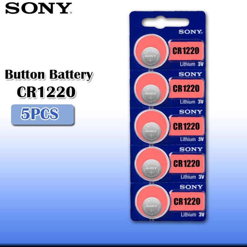 5 chiếc Sony CR1220 100% Nguyên Bản Pin Lithium Cho Chìa khóa xe ô tô Đồng hồ đồ chơi điều khiển từ xa CR 1220 ECR1220 GPCR1220 NÚT cell pin