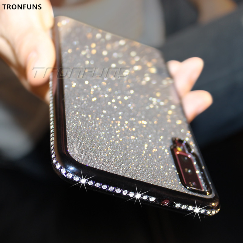 Diamond Soft Case for Samsung Galaxy A70 A50 A30 A40 A20 A10 A60 A80 A90 M10 M20 M30 For Samsung A7 2018 A750 Glitter TPU Cover image