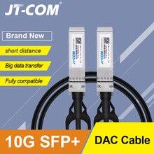 10 Гб SFP + DAC кабель Twinax, Пассивный, совместимый с Cisco SFP H10GB CU2M, Ubiquiti, Intel, Mikrotik, Netgear, D Link, 1 м, 2 м, 5 м