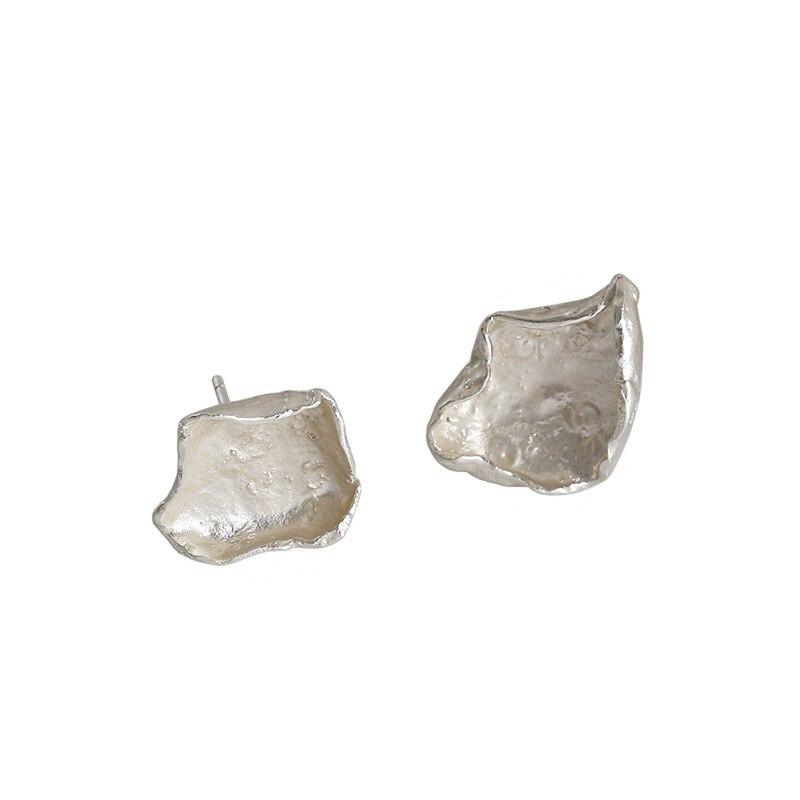 S'STEEL 925 Sterling Silver Earrings For Women Gold Earings Cute Asymmetric Stud Earrings 2020 Pendientes Minimalist Jewelry