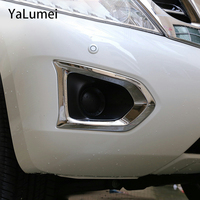 ABS krom araba ön arka sis refleks ışık lamba kapakları tampon Trim çerçeve süslemeleri Nissan Patrol için Y62 2013  2018 aksesuarları|Krom Şekillendirici|Otomobiller ve Motosikletler -