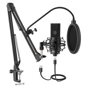 Image 1 - Fifine microfone usb condensador, microfone condensador usb com ajuste de desktop, braço e montagem de choque para estúdio, gravação, youtube, voz