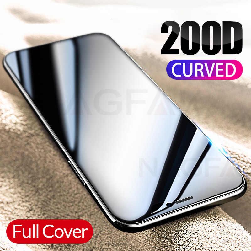 حافظة شاشة 200D لموبيل iPhone 7 8 6S Plus, غطاء حامي لزجاج لتغطية كاملة للاستخدام مع هاتف iPhone 7 8 6S Plus لحماية الشاشة المعالجة حراريا ماكس جلاس طراز 11 Pro X XR XS