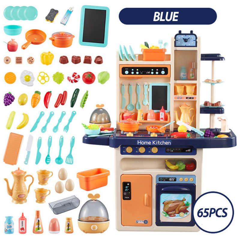 Niemowlę lśniące 93cm zabawki kuchenne dla dzieci 65 sztuk udawaj zagraj w symulację kuchnia zabawki kuchenne dla dzieci 2-4 lata zestaw zabawek kuchennych
