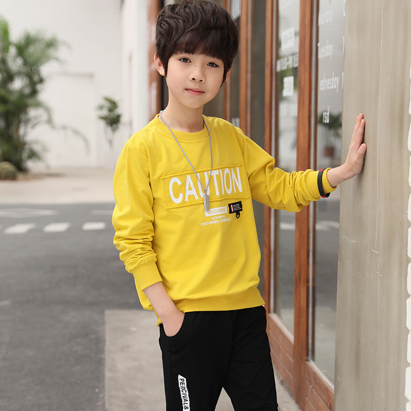TUONXYE Fashion Children Clothes Set For Boys Cotton Long Sleeve Sports Tracksuit Kids Tops+Pants Outfits Teens Clothing Suits 5