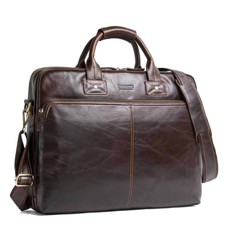 Leather Men's Business Briefcase Casual Men's Handbag Fashion Cross Body Shoulder Bag