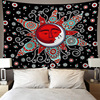 Skeleton Tapestry Wall Hanging Room Witchcraft Throw Rug Carpet Sun Tapestries Art Psychedelic Home Decoration Accessories 6