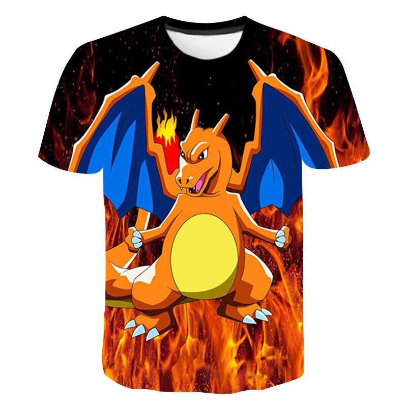 3D Baby Children's Wear Pokemon T Shirt Kids Japan Anime Aesthetic Pikachu Boys Clothes Summer Tops Fashion Casual Camisetas