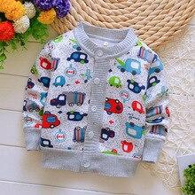Г. Весенне-осенние хлопковые свитера для мальчиков, теплая одежда для маленьких мальчиков Повседневный вязаный кардиган для детей от 0 до 2 лет, свитера детский тройник для девочек