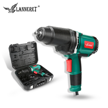 цена на 950W Electric Impact Wrench 450-550Nm Max Torque LANNERET 1/2 inch Car Socket Household Professional Wrench Changing Tire Tools