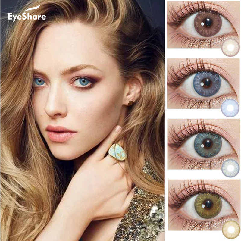 EYESHARE  2pcs/ Pair GEMSTONE SERIES Color Contact Lenses  For Eyes Cosmetic Contact Lens Eyecolor