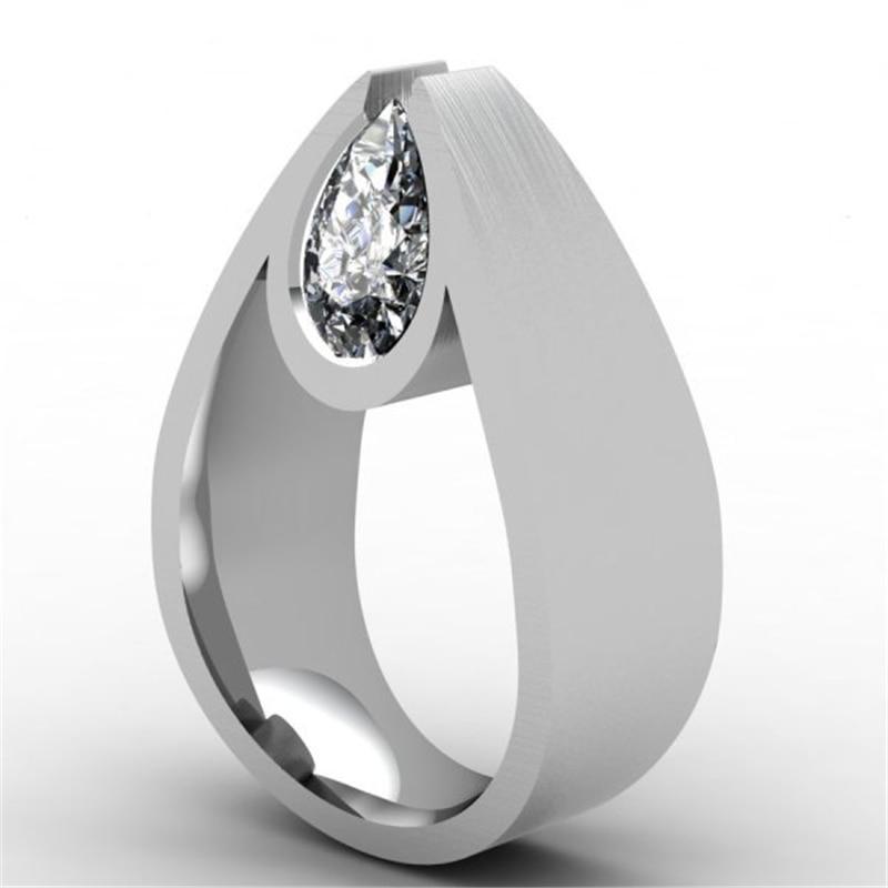 925 Silver Color VVS1 Diamond 2 Carat Jewelry Ring For Women Luxury Anillos Bizuteria Gemstone 2 Carat Diamond Wedding Rings
