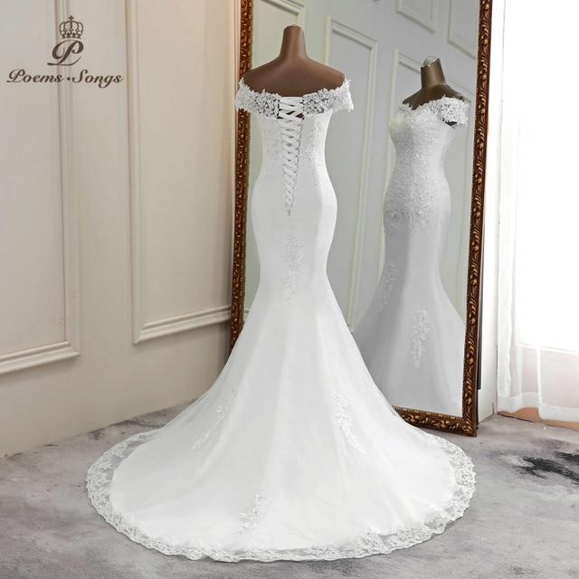 Vestido de casamento sexy 2021 apliques flor robe de mariee elegante vestido de noiva renda vestidos de casamento bela sereia vestido de noiva 3