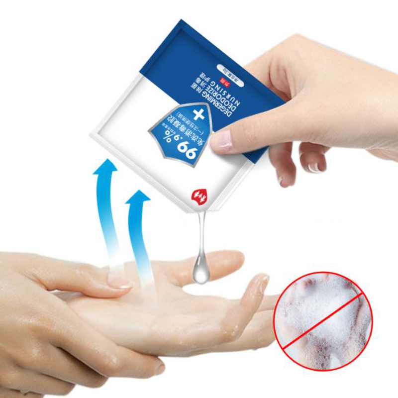 50pcs/pack Disposable Hand Sanitizer Instant Antibacterial Hand Sanitizer 75% Alcohol Disinfectant Gel For Travel Household