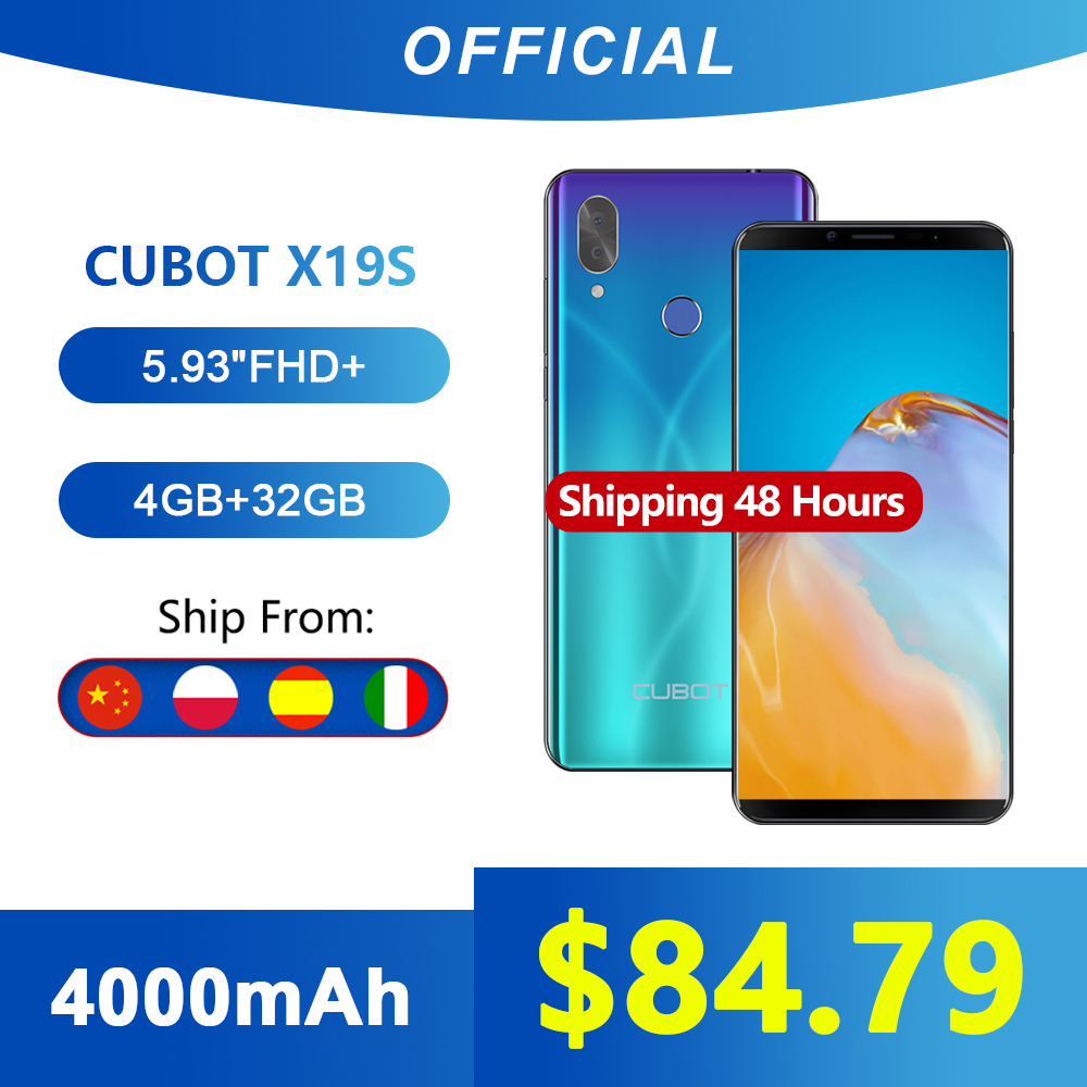 "Cubot X19 S Smartphone Helio P23 Octa-Core Dual Camera 16MP 5.93"" 2160*1080 FHD+ Face ID 4000mAh Big Battery 4GB+32GB 4G LTE(China)"