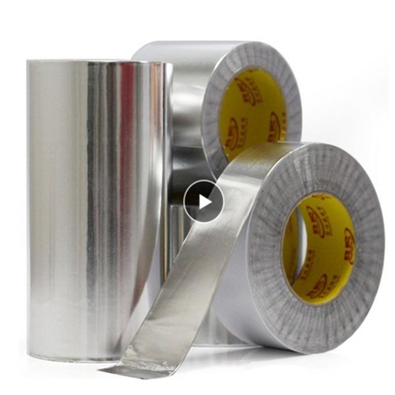 20M Aluminum Foil Tape Sealing Duct Adhesive Thermal Resist Fireproof Waterproof Heat Insulation High Temperature Resistant Tool