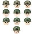 Второй мировой войны, американское воздушное подразделение, фигурки солдат 101st, строительные блоки, военная армия США, шлем, пистолеты, аксе...