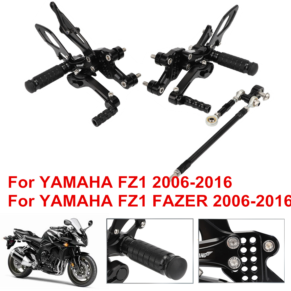 Cnc Aluminum Alloy Motorcycle Footrests Foot Rests Rear Set Adjustable Foot Pegs Rearset For Yamaha Fz1 Fz1 Fazer 2006 2016 Foot Rests Aliexpress