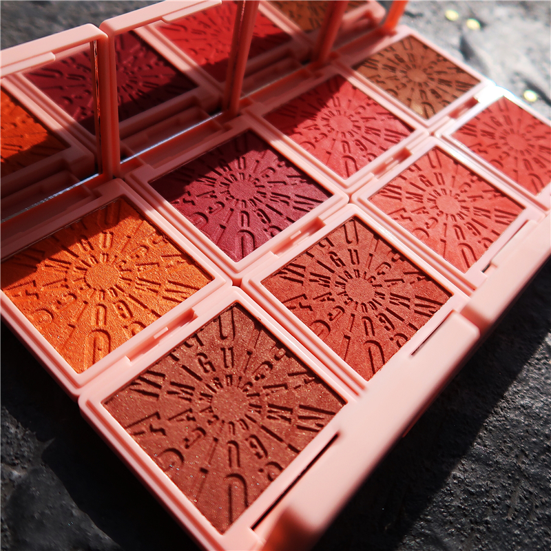 Makeup Blush Palette Face Contour Cheek Blusher Shimmer Glitter Highlighter Bronzer Palette Paleta De Blush Powder Highlight
