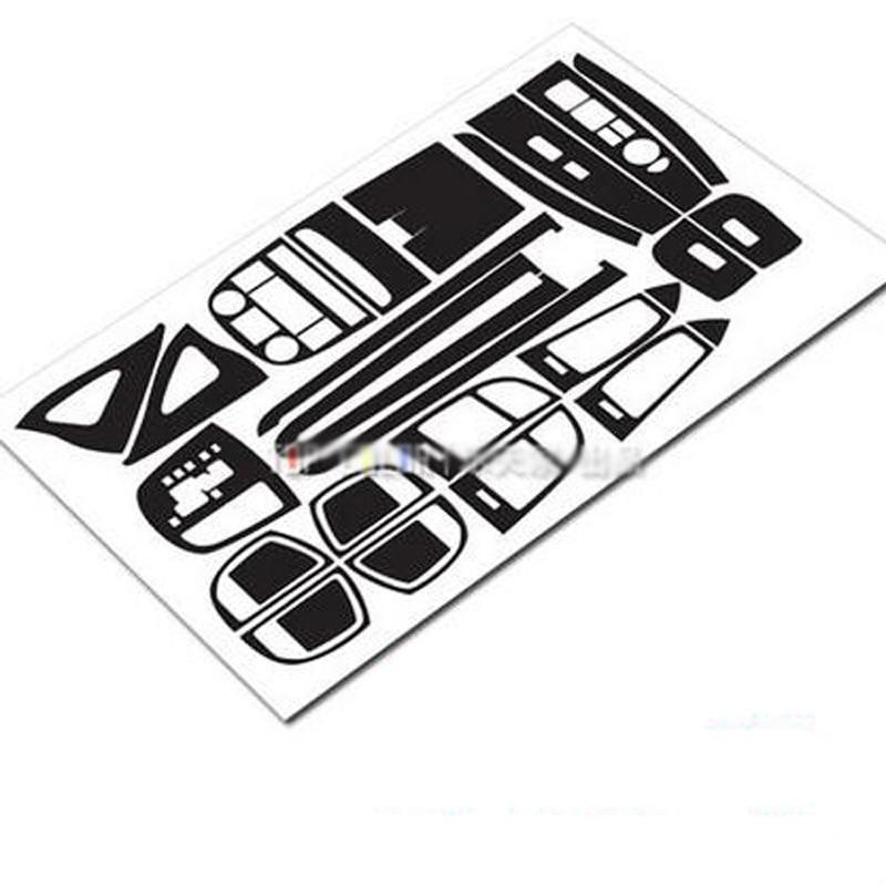 Car Interior Center Console Color Change 3D Carbon Fiber Molding Sticker Decals For Hyundai Santa Fe 2006-2012