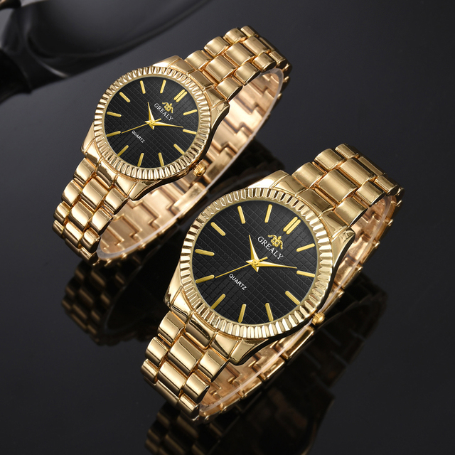 Couple Mens Women Watches Top Brand Luxury Quartz Ladies Wristwatch 2