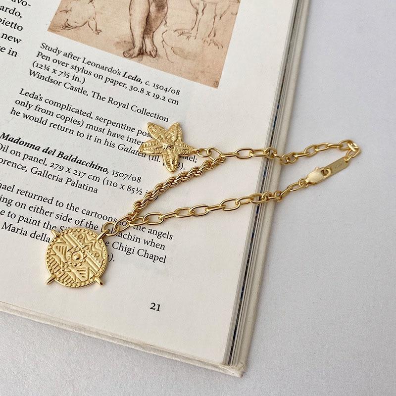 925 Sterling Silver Bracelets For Woman Bangles Star Gold Chain Bracelet Fine Jewelry Pulseras Plata De Ley Mujer Joyas Plata