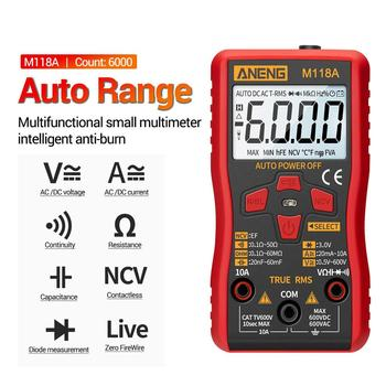 M118A Digital Mini Multimeter Tester With Back Light Auto Multimeter Non Contact Stable LCD Display Measurment Tool Auto Range