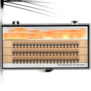 Image 4 - 3 خطوط الحرير المنك الفردية جلدة مضيئة الطبيعة طويلة النمو رمش تمديد أدوات ماكياج الجمال