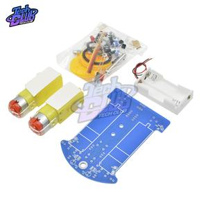 Diy-Kit Track-Line D2-1 Electronic-Production Intelligent Car 1set Fun Smart-Car-Chassis-Kit