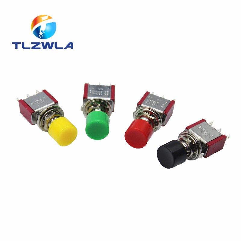 1Pcs 3Pin C-NO-NC 6mm Mini Momentary Automatic Return Push Button Switch ON-(ON) 2A 250VAC/5A 120VAC Toggle Switches
