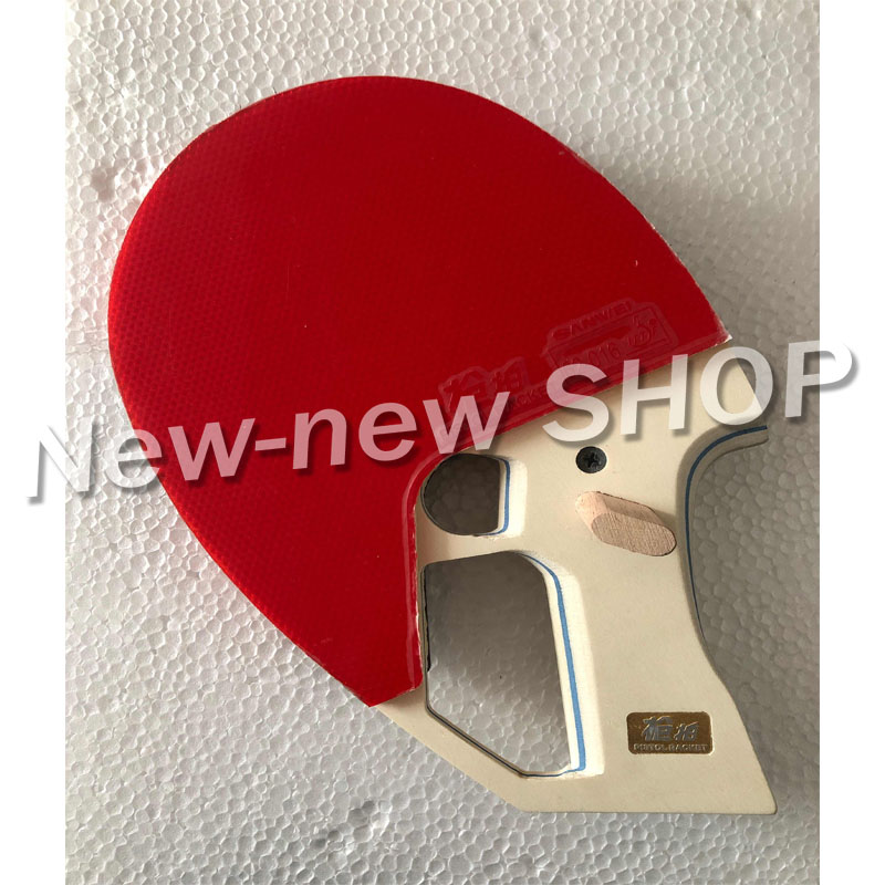 ITTF Approved SANWEI 9th Generation Ready Made Pistol Table Tennis Racket / Ping Pong Racket/ Table Tennis Bat