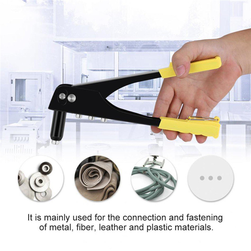 2019 New Practical Riveter Gun Manual Light Weight Riveter Gun Kit Blind Rivet Hand Gutter Repair Heavy Duty Tool
