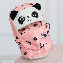 Animal panda Sharp Bomber Hats for Girl Boy Winter