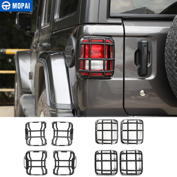 MOPAI Lamp Hoods for Jeep Wrangler JL Car Tail Light Cover Rear Lamp Guards Protector Accessories for Jeep Wrangler JL 2018 Up