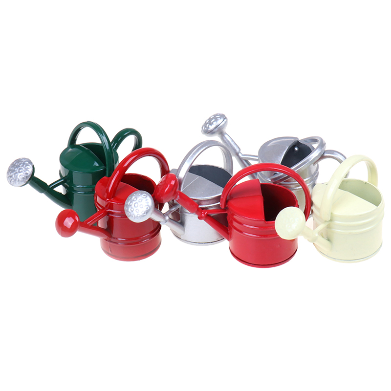 1/12 Metal Watering Can Garden Miniature Decoration For Children Kids Dolls Acces Dollhouse Miniature Furniture Toys