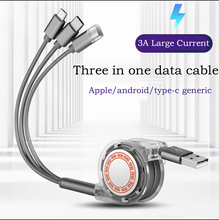 3in 1 USB Cable for Mobile Phone Micro 3A Fast Type C Charger iPhone Charging Cord
