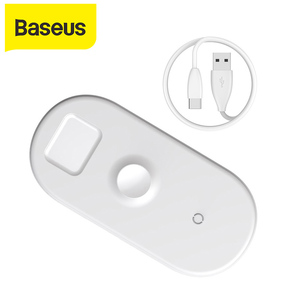 Image 1 - Baseus 3 ב 1 צ י אלחוטי מטען עבור אפל שעון עבור iPhone XS X סמסונג S10 10W 3.0 מהיר טעינה עבור אני שעון ואוזניות
