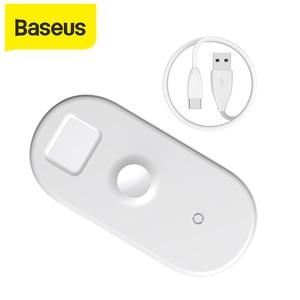 Image 1 - Baseus 3 in 1 Qi Drahtlose Ladegerät Für Apple Uhr für iPhone XS X Samsung S10 10W 3,0 Schnelle lade Für ich Uhr und Kopfhörer