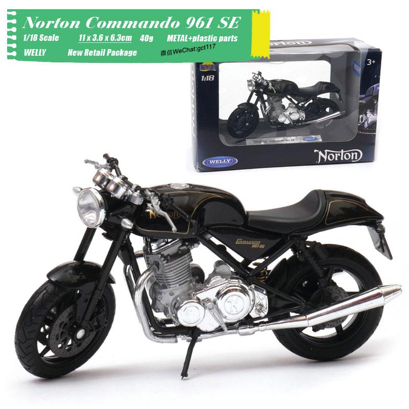 Juguetes de modelo de motocicleta a escala 1//18 de WELLY Norton Commando 961 SE