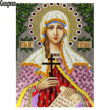 New year gift 3d diy Diamond Embroidery Religion Mosaic Icons holy Virgin lady Painting Cross-Stitch Kits Beadwork Needlework
