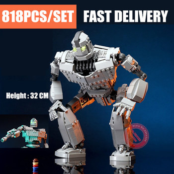 New MOC Movie The Iron Robot City Figures Voltron Fit Technic Giant Model Building Blocks Bricks Kids Toys Gifts Birthday new idea rc motor power functions wall e robot fit technic figures moc building block bricks diy toy gift kid birthday xmas