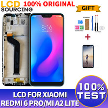 "100% ORIGINAL LCD 5.84"" For Xiaomi A2 Lite LCD Touch Screen Digitizer Assembly + Frame FOR Xiaomi Redmi 6 Pro Display Replace(China)"
