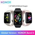 Глобальная версия HONOR Band 6 смарт-браслет Водонепроницаемый умные часы, отображающие сердцебиение уровень кислорода в крови, активно-матричн...